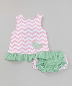Love this Mint Bird Swing Top & Bloomers - Infant & Toddler on #zulily! #zulilyfinds