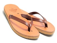Vegetable-Tanned Leather Sandals by Apolis Preserve Israeli Craft...