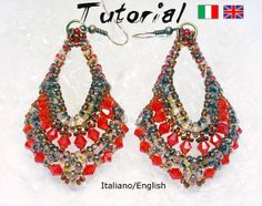 Tutorial Earrings Indian (Download digitale istantaneo: 2 Files incluso), by UnmondoSuper, 3,50 € su misshobby.com