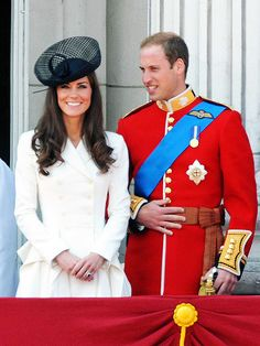 Catherine took her place next to Prince William and the most senior members of the royal family to celebrate the queen's official birthday at the Trooping the Colour military parade at London's Buckingham Palace on June 11. Standing together on the palace balcony no doubt brought back a few fond royal wedding memories for the beaming pair.