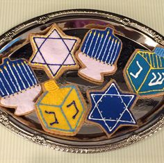 Perfect addition for any little boy or girl for Hanukkah! Order a set at FeltSewReal@aol.com Set includes six cutout cookies all made from felt...these cookies will last a lifetime! Let them PLAY with their FOOD❣