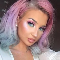 Lace Frontal Wigs Pink Hair Bubblegum Pink Hair Color For Girl – wigbaba Hair Color Pink, Cool Hair Color, Short Hair Wigs, Short Hair Styles, Long Thin Hair, Long Face Hairstyles, Silky Hair, Balayage Hair, Dyed Hair