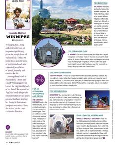 #TravelTuesday Have you seen the latest issue of @ylwkelownas Connect magazine? You just might see a familiar #Winnipeg face!  Yep it's ME! Im so humbled to have been able to give a #LocalTake on my wonderful city. I mentioned a few notables:  @dconstructjewelry  @oldhatmaker  @saffronsrest  @kalbarteski  @cmhr_mcdp  @theforkswinnipeg  @tourismeriel  @mystellas  @westendbiz  @johnstonterminalwinnipeg  @bellmtsplace  @nhljets  @the_exchange_winnipeg  @westbroadwaybiz  @downtownwpgbiz… Have You Seen, Did You Know, Direct Flights, Latest Issue, Tourism, Connection, Culture, Magazine, River
