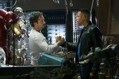 """Iron Man"" starring Robert Downey Jr., Gwyneth Paltrow, Terrence Howard and Jeff Bridges.   Directed by Jon Favreau. 2008."
