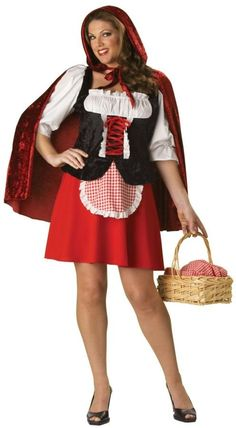 Red Riding Hood Elite Collection Adult Plus Costume Description: A classic costume everyone will love. A charming costume from a classic fairytale. Red Riding Hood costume includes a Plus Size Adult Halloween Costumes, Little Red Riding Hood Halloween Costume, Plus Size Costume, Red Riding Hood Costume, Halloween Fancy Dress, Adult Costumes, Costumes For Women, Halloween Ideas, Halloween Carnival