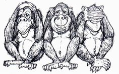 The Three Wise Monkeys have names: Mizaru (See no evil), Mikazaru (Hear no evil), and Mazaru (Speak no evil). - Who knew?