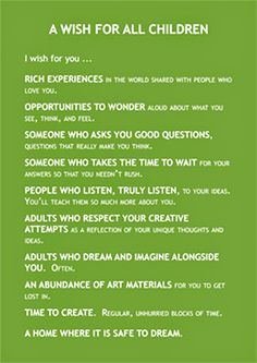 I know this is a list for children but I believe that this can apply to all of us.
