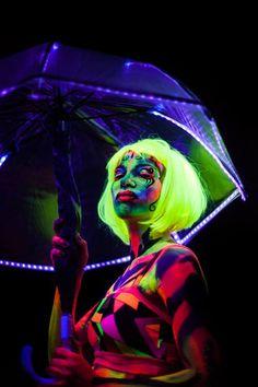 UV Umbrella Build for Luminous at the Adelaide Fringe