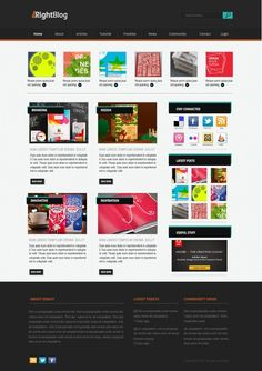 Design an Amazing Blog Layout In Photoshop - includes layered PSD file.