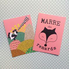 2 cartes postales pleines d'humour!