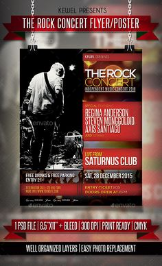 Rock Concert Flyer  Poster  Concert Flyer And Rock Concert