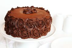 It occurred to me that there are three things I have not done. Updated the Best Chocolate Cake recipe. Shared the perfect Chocolate Buttercream recipe. Made a Chocolate Rose Cake. Well, I will remedy those three issues all in one post! Köstliche Desserts, Chocolate Desserts, Dessert Recipes, Cake Chocolate, Chocolate Coffee, Perfect Chocolate Cake, Amazing Chocolate Cake Recipe, Chocolate Buttercream Recipe, Buttercream Frosting