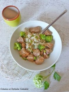 Sauté de porc aux brocolis et petits pois