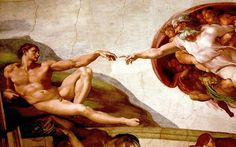 Michelangelo's Sistine Chapel ceiling. The ceiling of the Sistine Chapel is quite large and it's unimaginable what Michelangelo did, however, this is my favorite part of the ceiling.