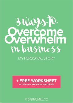 Overwhelm is one of the biggest reasons business owners hold back and keep themselves small. In reality, avoiding overwhelm in business is impossible, but there ARE ways to consistently OVERCOME it. Here's 3 practical tips to BEAT OVERWHELM (with a handy FREE WORKSHEET to get you started immediately). Read now and start taking action today >>
