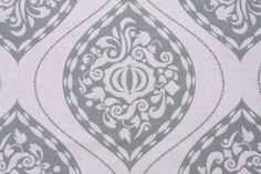 Fabric by the Yard :: Robert Allen - DwellStudios Ogee Printed Cotton Linen Drapery Fabric in Aqua Marine $19.95 per yard - Fabric Guru.com:...