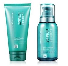 KOREAN COSMETICS AmorePacific_ Laneige Homme PORE CLEARING 2piece set CLEANSER150ml  GEL Lotion 125mll sebum control skin trimmed Trouble001KR *** ** AMAZON BEST BUY **