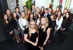 1st year trainee solicitors at Shoosmiths with the graduate recruitment team Samantha Hope & Kristina Mulvihill (2014)