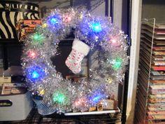 Christmas Wreath with twinkle lights