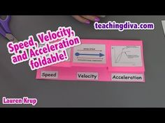 Speed Velocity and Acceleration Foldable - YouTube