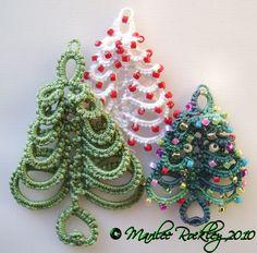 Yarnplayer's Tatting Blog: Layered Ring Christmas Tree