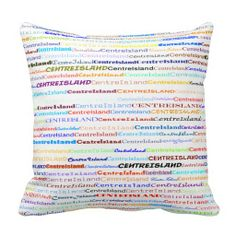 Centre Island Text Design II Throw Pillow