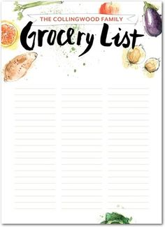 Grocery Gazette - Personalized Notepads - Petite Alma - Khaki - Neutral : Front
