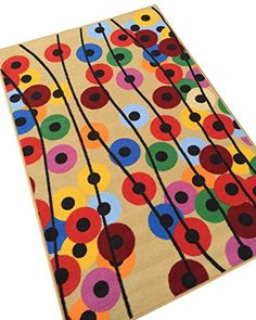 Polka Dot Floral Balloons Colorful Area Rug x Kids Children's Fun Multicolor Rug Kids Area Rugs, Pom Pom Rug, Cool Rugs, Art Classroom, Rug Hooking, Rainbow Colors, Cool Things To Buy, Balloons, Polka Dots
