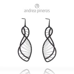 Earrings Batignolles Oxidized Brass and polyester wire