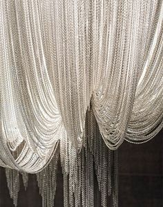 Silver Chain Curtains from Mandy and Ray's wedding in chapter 13