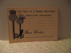 Personalized  wedding  Wish  Cards by mslizz on Etsy, $20.00