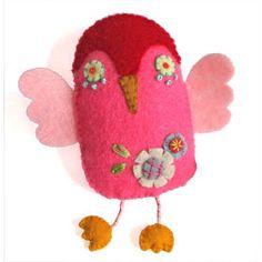 https://flic.kr/p/wNFW7 | Octavio the Owl / Mahar Drygoods Archive | Felt owl broach by Chika