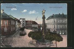old postcard: AK Sternberg, Fürst-Liechtensteinplatz