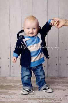 Look at him! How to dress a baby boy for pictures.