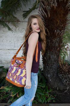 Bella: Small Mayan Leather Day Bag