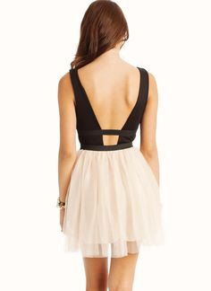 strappy back tulle dress $38.00