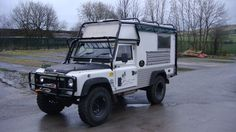 Land Rover Defender Camper  - roomy but not too big for off road.