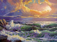 A seascape of the California Coastline by David Lloyd Glover