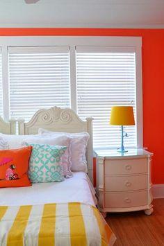 Bright orange walls