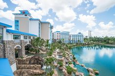 The Caribbean-inspired Loews Sapphire Falls Resort at Universal Orlando Resort transports guests to paradise where blue waterfalls cascade across lush grounds, and the invitation to cool relaxation is everywhere.