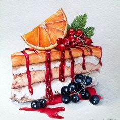 Письмо Food illustrations Pins to check out Dessert Illustration, Watercolor Illustration, Cute Food Art, Food Sketch, Watercolor Food, Food Painting, Food Drawing, Marker Art, Kitchen Art