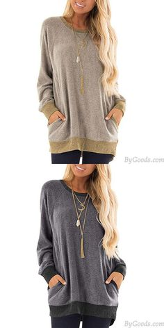 Cheap Leisure Long Sleeve Round Neck Pullover Sweatshirt T-shirt Tops Large Loose Women Coat For Big Sale!Leisure Long Sleeve Round Neck Pullover Sweatshirt T-shirt Tops Large Loose Women Coat Cardigan Sweaters For Women, Cute Sweaters, Girls Sweaters, Cardigans For Women, Coats For Women, Sweater Cardigan, Hooded Wool Coat, Sweater Fashion, Fashion Coat