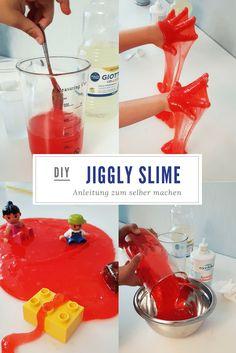 Spiel-Schleim selber machen: Einfaches DIY-Rezept mit Schritt für Schritt Anleitung für selbstgemachten Jiggly Slime! (bekannt als Clear Slime)