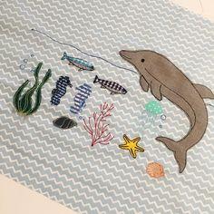 """Gefällt 115 Mal, 2 Kommentare - Mika // Du liebst es (@duliebstes) auf Instagram: """"Underwaterlove 😍 • • #kissen #pillow #stickherz #underwater #embroidery #sticken #v3 #sewing…"""""""