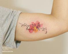 한글타투 by 타투이스트 리버, Korean lettering tattoo, 한글문신, 수채화타투, 수채화문신, 분당 타투