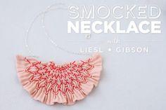 Smocked Necklace Workshop on Creativebug