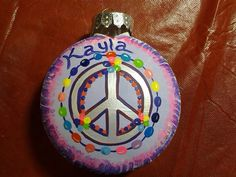 Peace Out Holiday Ornament by Erica C. Wood www.howsheseesitecwood.etsy.com on Etsy, $12.00