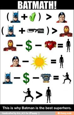 Batman -> Batmath