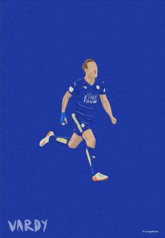 Leicester City FC Illustrated Print LCFC gifts Football Art