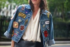 Patches were the most DIYable trend on the streets this fashion week, the sillier the better
